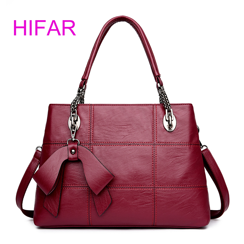 Luxury Handbags Women Bag Designer 2018 Famous Brand Women Leather Tote Hand Crossbody Bag High Quality Stitching Sac Cheap<br>