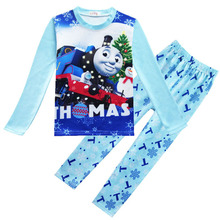 Christmas Kids Clothes Cotton Spring Thomas Children Clothing Set Long Sleeve Boy Sports Suit Tracksuits Home Wear Pajamas Sets(China)
