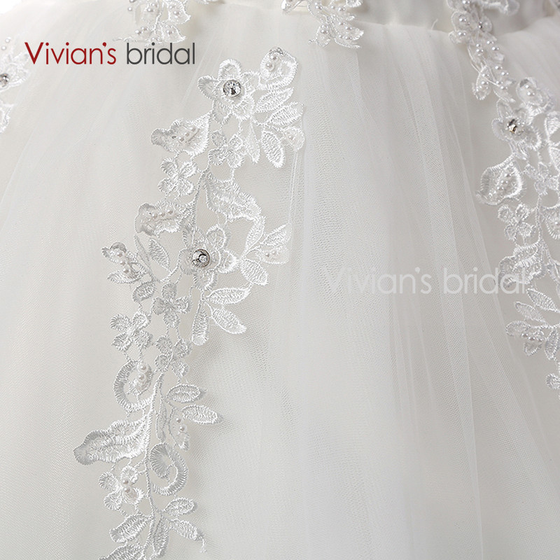 Vivian\'s Bridal A Line Lace Tulle Wedding Dresses 2 (3)