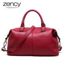 Spring Boston Designer Women Handbag 100% Genuine Leather Tote Shoulder Bag Ladies Purse Casual Satchel Capacity Bolsa Feminina