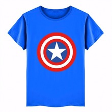 New Cartoon Captain America 3D Print Cotton Children Boys T Shirts Tops Spider Man Baby Kids Clothes Boys Girls T-Shirt Tees