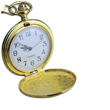 pocket watch necklace Smooth Stainless Steel Case White Dial Arabic Numbers Modern Pocket Watch with chain