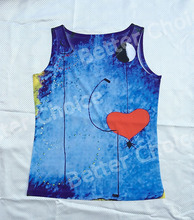 Track Ship+Vintage Vest Tanks Tank Tops Camis Dream Blue Painting Red Heart Spider Web 0352