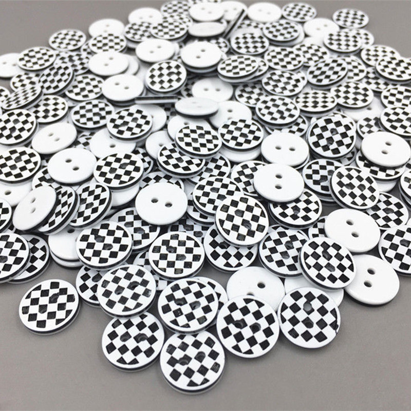 Checked//Gingham Resin Buttons Size 14mm Baby Knits Various Colours