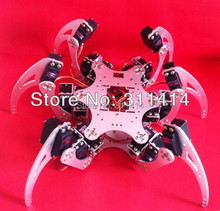 1set 18 DOF Six-feet 6 Legged Intelligent Robot Spider Metal Frame Kit W/Bearing & Servo Arm Plate Silver Wholesale Retail(China)
