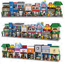 Nano Blocks LOZ Mini Street Architecture 8 Styles Shop Stores Education Toys for Children Mini Block Gifts
