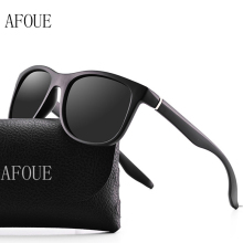 AFOUE 2017 Brand Name Men Polarized Sunglasses Square Vintage Retro Sun Glasses Male Driving Glasses Eyewear for Men