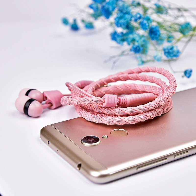 Artisome Wired Bracelet Earphone With Microphone 3.5mm Fabric Braided Earphone For Phone Headphones For iPhone Adroid (17)