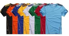 Wholesale For men Soccer sets Football Jerseys Quick Dry Short-Sleeve Sportswear Training Shirt