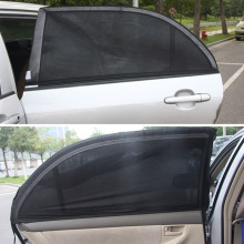 2PCS Balck Auto Sun Visor Rear Window Folding Cover Protector Mesh for Sun Protection Car-styling Curtain XL 126 * 52cm(China)