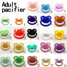 All Color Big Baby Pacifier Adult Size ABDL Silicone Pacifier Adult Nipple Sucking Christmas Gift(China)
