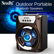 NewPal High Power Bluetooth Speaker Portable Mini Subwoofer Bass Column Wireless Music Loud Speaker with USB FM AUX SD Card(China)