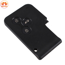 3 Buttons Key Card Case For Renault Clio Megane Scenic Grand Scenic Car Replacement Remote Key Cover Shell(China)