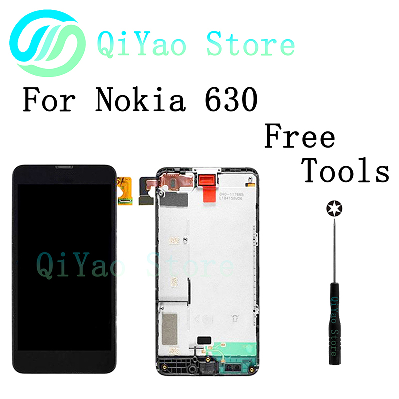 For Microsoft Nokia Lumia 630 New LCD Display+Touch Screen Digitizer Assembly +Frame<br><br>Aliexpress