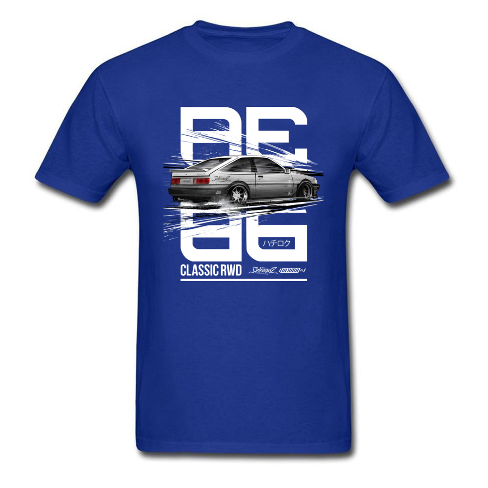 Leisure CLASSIC RWD DRIFT SERIES ae86 T-shirts for Men 2018 Popular Father Day Round Neck 100% Cotton T-shirts Tops & Tees CLASSIC RWD DRIFT SERIES ae86 blue