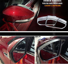 FIT FOR FORD ESCAPE KUGA CHROME SIDE MIRROR RAIN GUARD VISOR COVER TRIM 2013 2014