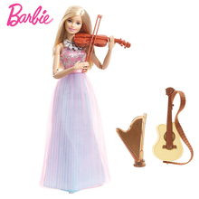 Barbie Doll Barbie Violin-Refresh Toys Christmas Present For Girls Barbie Violinist Best Gift For Birthday Present DLG94(China)