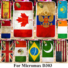 Soft TPU Covers Phone Cases For Micromax Bolt D303 4.3 inch Covers UK Russia Flags Sheath Skin Bags Silicone Housing Shell Case
