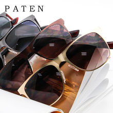100% UV Protection Stylish Black Frame Black Lens Made in China PATEN 1915 Simple Deluxe Classic Polarized Square Sunglasses