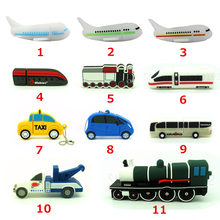 new trailer truck usb flash drive plane Container car pendrive pen drive 4gb 8gb 16gb 32gb real capacity memory disk gift toy(China)