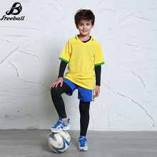 High quality soccer jerseys for kids short sleeve survetement football 2017 boys soccer set uniforms Customized kits New(China)