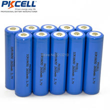 10 x Liion Rechargeable Batteries ICR18650 2600mAh 18650 Batteria Button Top No Protection Lithium Li-ion Battery(China)