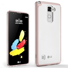 For LG Stylus 2 Case Luxury Crystal Transparent Soft TPU+PC Hard Bumper Cover For LG Stylus 2 F720 LS775/Stylo 2 K520 Phone Case(China)