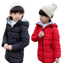 Fashion Girl's Down Jackets Girls Winter Coat To Keep Warm Children's Winter Jackets Children's With Thick Jacket Winter(China)