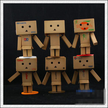 6pcs/lot Danboard PVC Action Figure anime Toy with LED light 8cm Mini Enterprise Edition Doll Model Japanese Lovely Anime