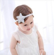 New Children Fine Sand Glitter Five-pointed Star Jnfants Hair Bands Elastic Girls Hair Accessories Kids Ornaments Headband(China)