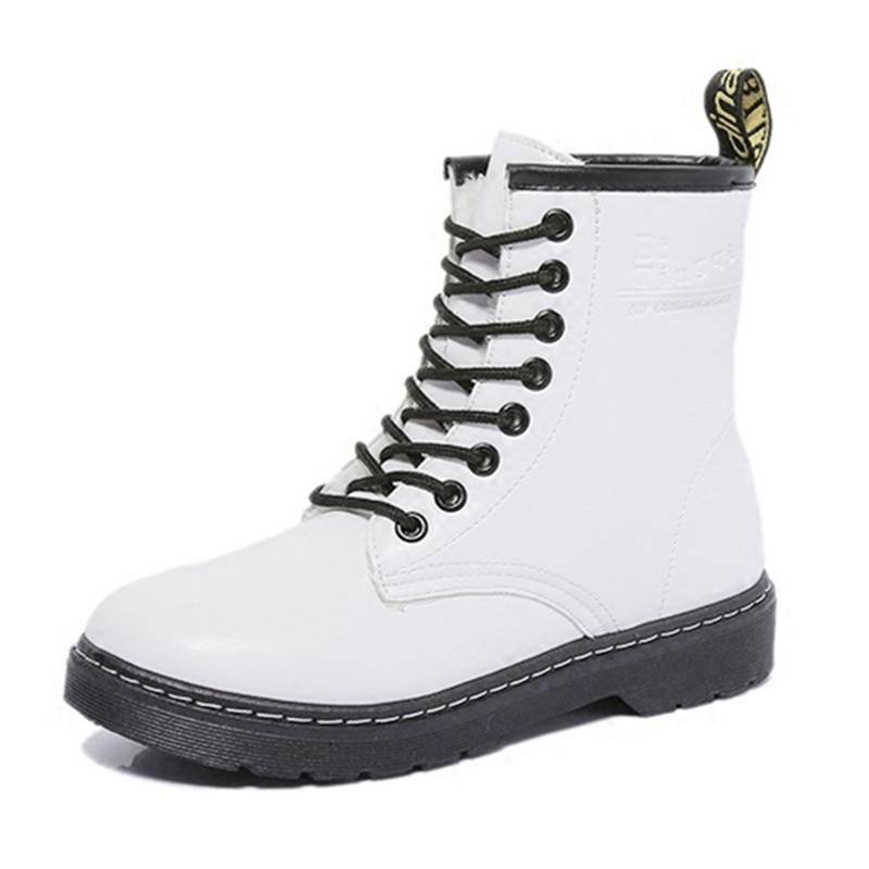 White Martin Boots Women Waterproof Fashion Fur Women Snow Boots Flat Beautiful Mid-calf Boots X1026 35<br><br>Aliexpress