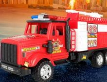Large cartoon inertia fire truck simulation toy car child model toy car