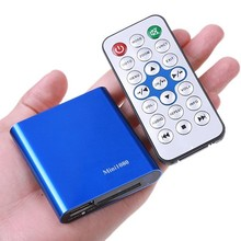 Free Shipping!Mini Full 1080P HD USB External HDD Media Player support SD card reading,USB Host+H.264 MKV MPEG RMVB DVD Video