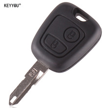 KEYYOU 2 Buttons Remote  Car Key Case Shell Key Cover for Citroen C2 C3 Xsara Picasso Free Shipping