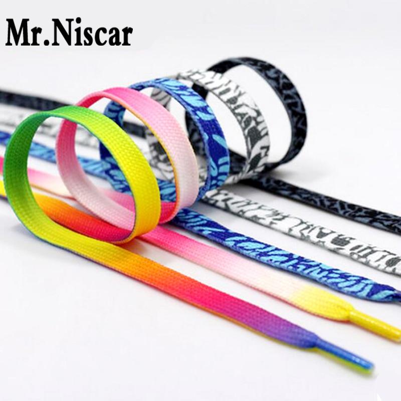 Mr.Niscar 10 Pair Rainbow Multi-Colors Flat Sports Shoe Laces Shoelaces Strings Strap for Sneakers Unisex Rainbow Shoelace<br><br>Aliexpress