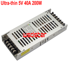 WsdStar Ultra-thin 5V 40A 200W LED power supply Indoor & outdoor full color LED display accessory 190x84x30mm 10pcs/lot