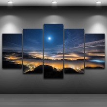 Framed Spray Oil Painting Decoration HD Printed Home Decor Artistic Print Painting on Canvas wall art pictures Night View AE0194