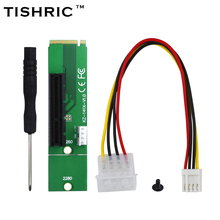 TISHRIC 2017 New Male To Female NGFF M2 M.2 to PCI-E PCI Express 4x 1x Slot Riser Card Adapter For Bitcoin Miner Mining(China)