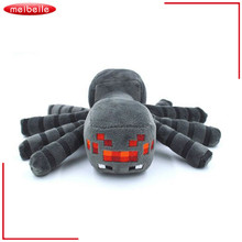 Good Quality 1PCS Cute Minecraft Animal Patterns Plush Soft Toy Stuffed Doll Kids Gift Spider 17cm christmas gift