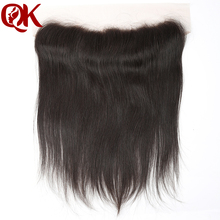 "7A Virgin Brazilian Hair Piece 10-20"" Lace Frontal Closure 13x4"" Bleached Knots French Lace Frontal  Straight Hair Closure"