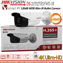 Hikvision DS-2CD2T85FWD-I8 8MP сети IP пули 4 К CCTV Камера Открытый POE SD карты 80 м ИК H265 CMOS DC12V Face Detection ONVIF(China)