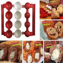 New 1PC Pro Maker Newbie Meatballs Maker Meat Fish Ball Mold Christmas Kitchen Homemade Stuffed Meatballs Cooking Tool MA885215(China)