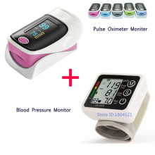 Free Shipping Digital Wrist Blood Pressure Monitor Heart Beat Rate Pulse Meter Oximetro de dedo Blood OxygenSpO2