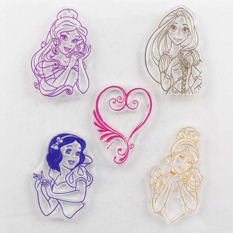 CCINEE Promotions One Sheet Girl Design Transparent Stamp DIY Scrapbooking/Card Making/Christmas Decoration Supplies(China)