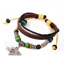 2016 Special Offer Classic Women New Handmade Love Antique Charm Leather Bracelets For Fashion Jewelry Couple Bracelet Pulsera