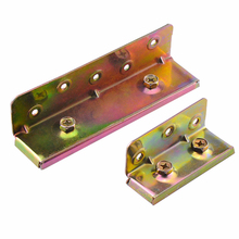 Color-zinc Plating Bed Hinge Furniture Fixed Bed Connection Thick Locking Stealth Hinge Furniture Accessories Wood Bed Invisible(China)