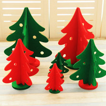 1x Non-woven fabric Christmas tree Furnishing articles decorations Holiday party ornaments New Year gifts toys