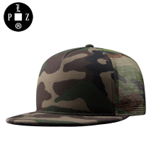 PLZ Mesh Hat Camo Snapback Cap Fashion Rock Hip Hop Baseball Cap For Men 2017 New Design Street Dancing Hat Camouflage 56-59cm(China)