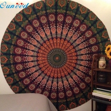 Ouneed Coffee High Quality Table Cover Table Cloth Happy Gifts Chiffon Fondos De Pantalla Round Beach Pool Home Blanket Yoga Mat