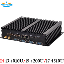 Partaker I4 Mini Computer Fanless Mini PC Windows 10 Core i3 4010U i5 4200U i7 4510U Dual LAN 6*RS232 industrial PC Rugged PC